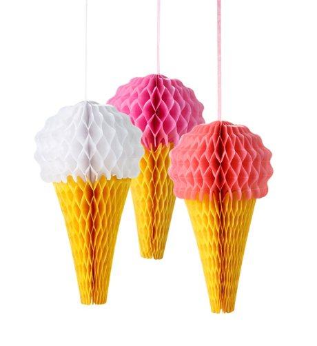 Glass-poms-poms-glass-honeycombs-ice-cream-glass-glass-strut-dekorationer-glasskalas-kalas-barnkalas