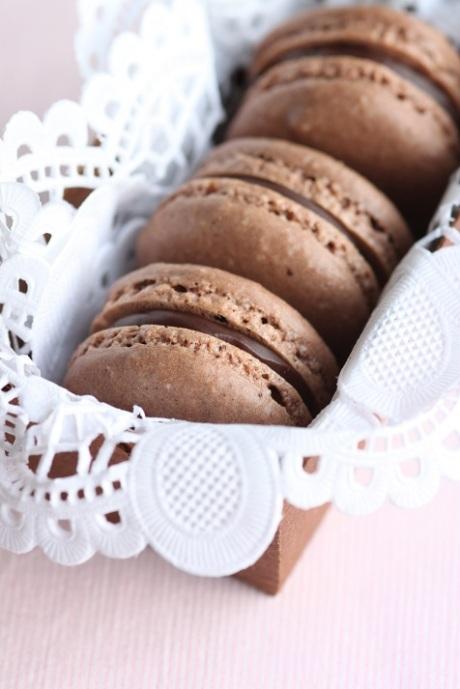 Chokladmacarons liten